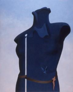 0164 Blå torso (Slocknad sticka) 1978